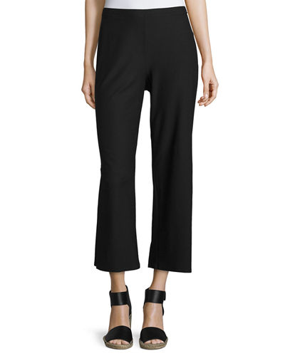 Eileen Fisher Washable Stretch Crepe Cropped Pants, Petite