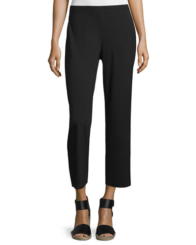 Eileen Fisher Easy Jersey Cropped Pants, Petite