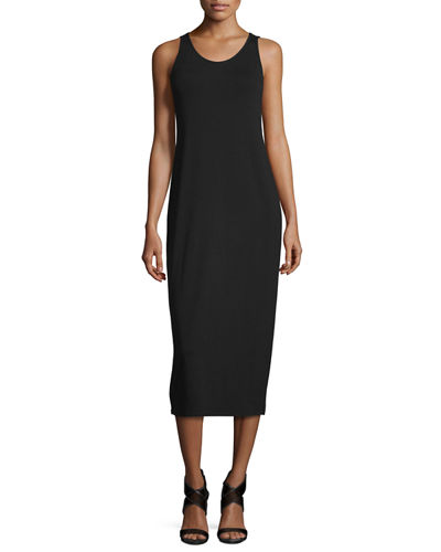 Sleeveless Scoop-Neck Midi Dress