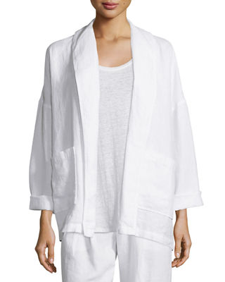 Heavy Linen Jacket with Pockets
