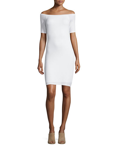 2 x 1 Short-Sleeve Sheath Dress