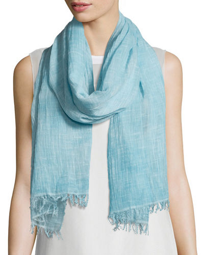 Eileen Fisher Maltinto Crosshatch Gauzy Scarf