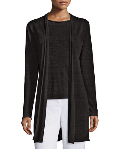 Eileen Fisher Fine Organic Linen Long Cardigan