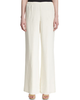 Silk Wide Leg Pants sYGOshYc