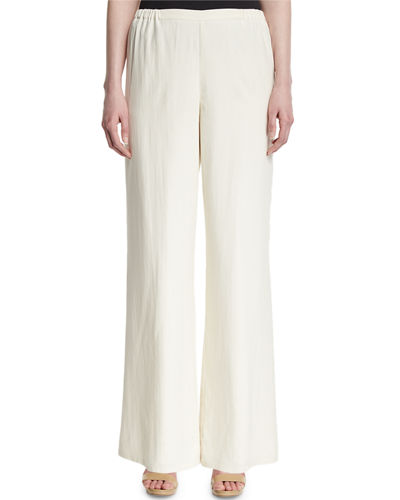 Silk Wide-Leg Pants