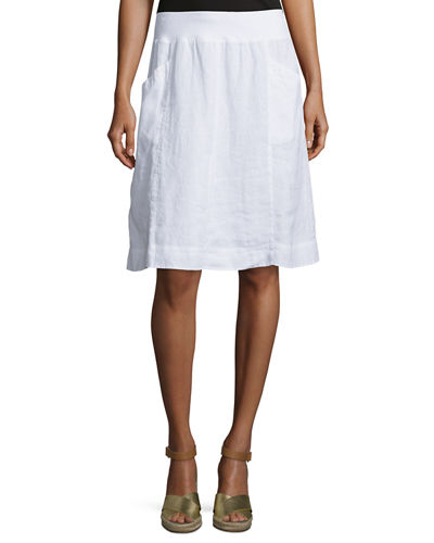 Organic Linen Knee-Length Skirt
