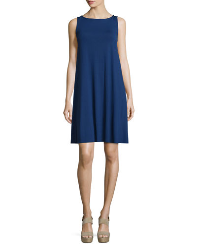 Eileen Fisher Flowy Lightweight Jersey Tank Dress, Plus