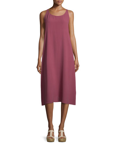 Eileen Fisher Scoop-Neck Silk Tank Dress