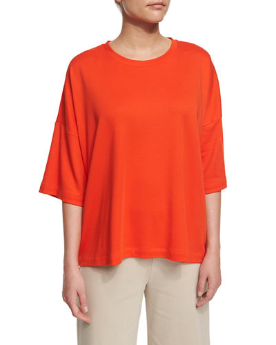 Half-Sleeve Boxy Big Tee