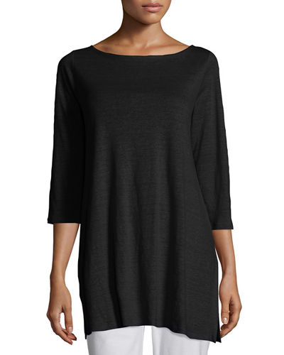 Eileen Fisher3/4-Sleeve Organic Linen Tunic