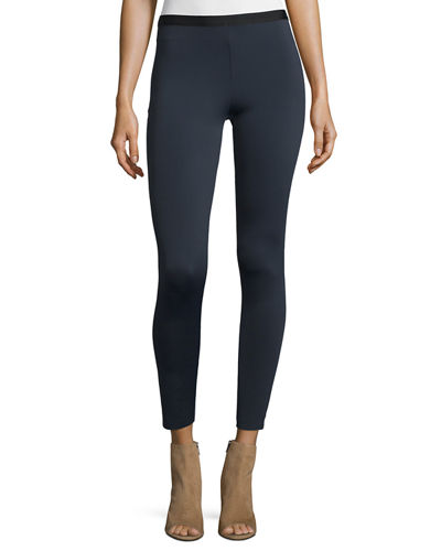 Scuba Stretch Leggings, Navy