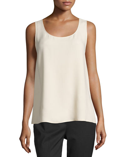 Davis Sleeveless Silk Blouse