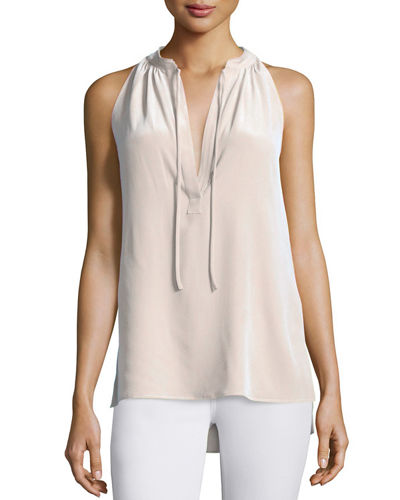 Theory Livilla Summer Silk Sleeveless Top