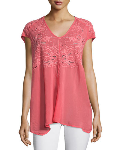 Marc V-Neck Embroidered Tunic