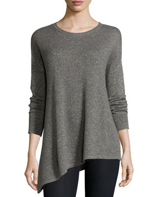 Metallic Asymmetric Cashmere Sweater Top Reviews