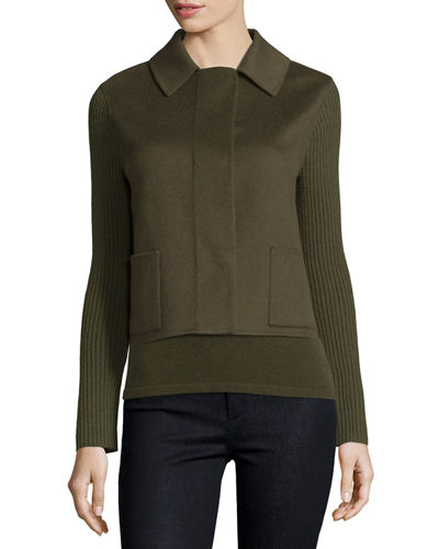 Double-Face Cashmere Short Jacket