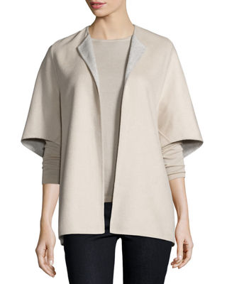 Double-Face Cashmere Cocoon Jacket