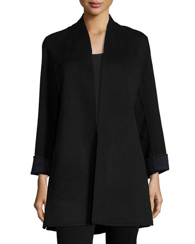 Neiman Marcus Cashmere Collection Double-Face Woven Cashmere