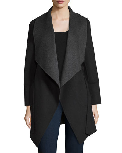 Belted Double-Face Cashmere Cardigan Coat