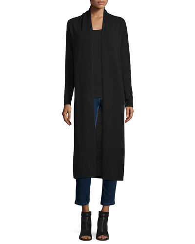 Neiman Marcus Cashmere Collection Long Open-Front Cashmere Duster ...