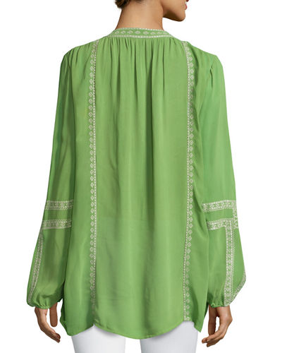 Lauren Embroidered Boho Blouse