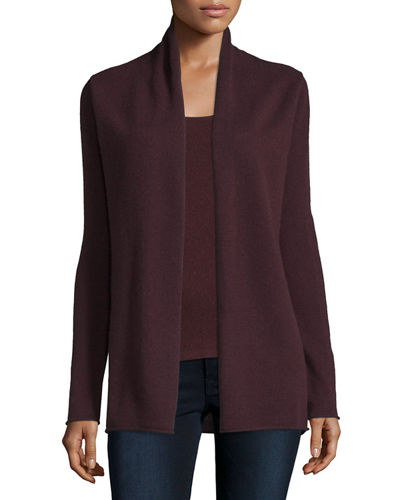 Cashmere Draped Cardigan, Plus Size