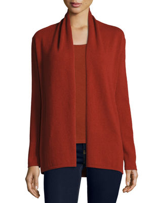 Modern Open Cashmere Cardigan