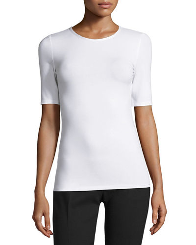 Half-Sleeve Stretch Jersey Tee