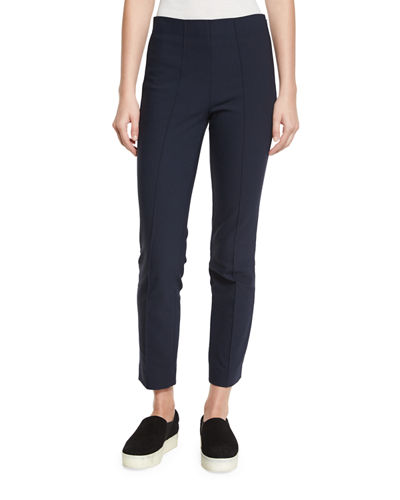 Seamed Cotton-Stretch Trousers