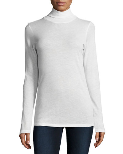 Cotton/Cashmere Long-Sleeve Turtleneck
