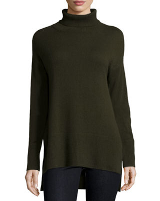 Cashmere Turtleneck with Side Slits