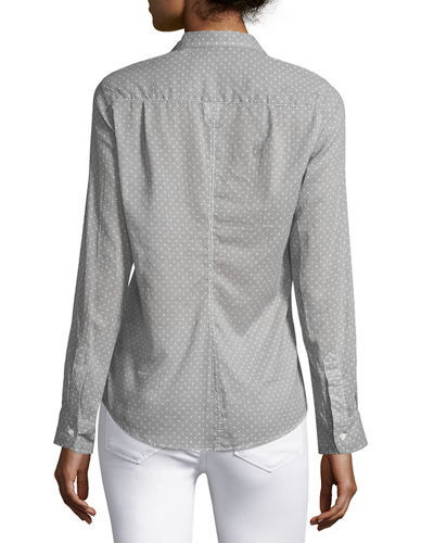 Barry Long-Sleeve Voile Shirt