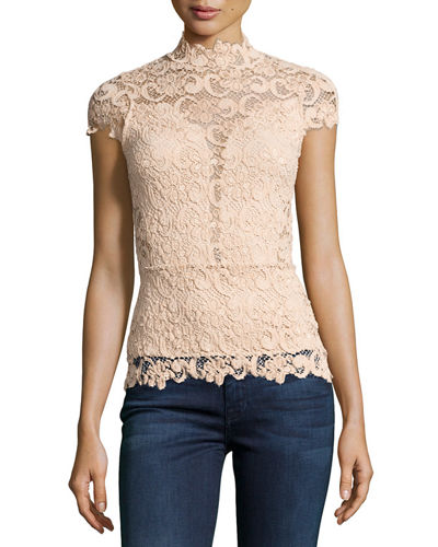 Day-to-Date Lace Top, Black