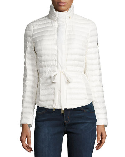 Belted Packable Puffer Coat