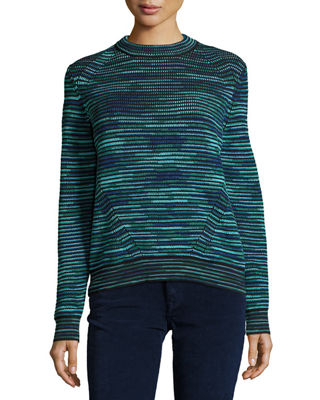 Chunky Space-Dyed Wool-Blend Sweater