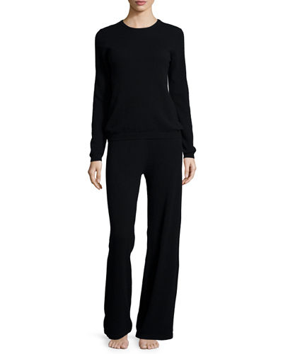 Neiman Marcus Cashmere CollectionCashmere Sweater & Pant Lounge