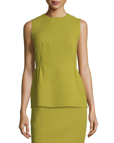 Lafayette 148 New York Meghan Sleeveless Wool Peplum