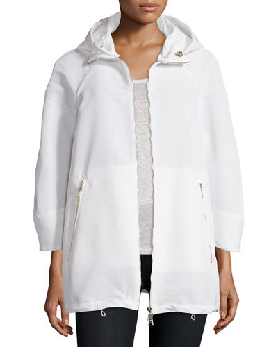 Maquereau Hooded Zip-Front Parka Jacket