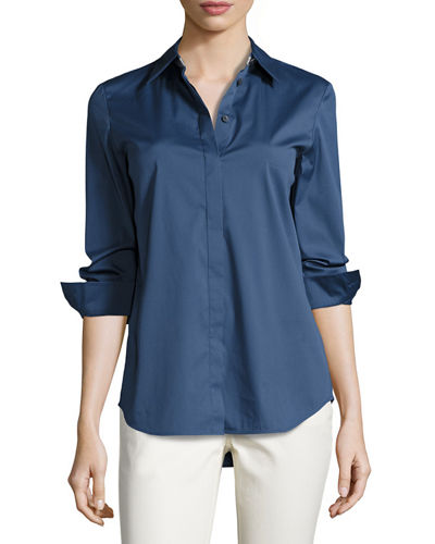 Brody Long-Sleeve Poplin Blouse