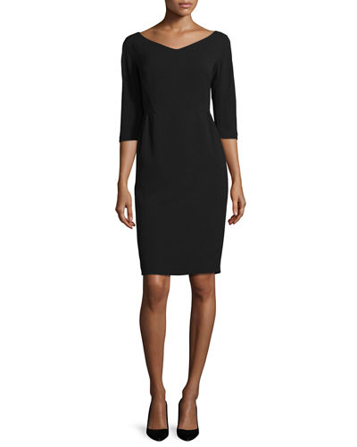 Lafayette 148 New York Alexia Half-Sleeve Knit Sheath