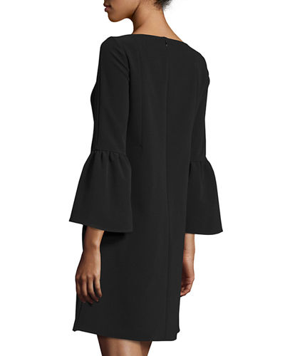 Marisa Bell-Sleeve Shift Dress