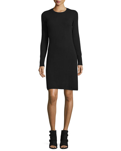Cashmere Crewneck Sweater Dress, Women's