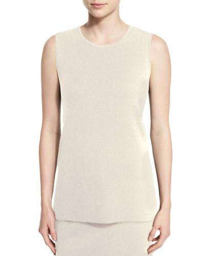 Washable Wool Crepe Long Tank