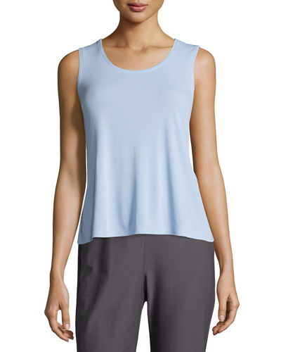 Eileen Fisher Stretch Silk Jersey Tank
