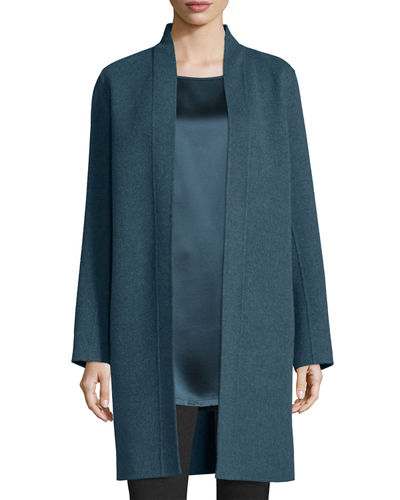 Brushed Wool Double-Face Coat