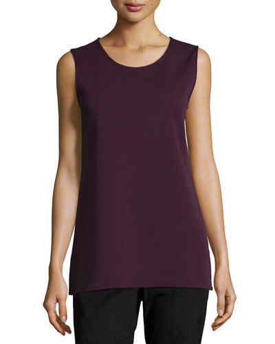 Long Knit Wool Tank, Petite