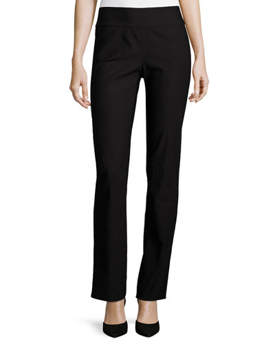 Wonderstretch Straight-Leg Pants, Midnight, Plus Size