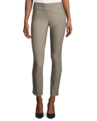 Slim Wonderstretch Pants, Mushroom, Petite