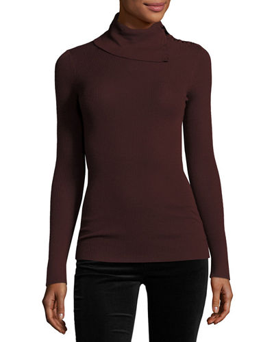 Leendelly Refine Ribbed-Knit Turtleneck Sweater