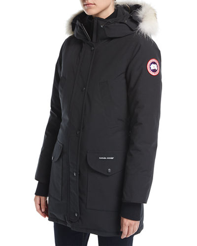 Canada Goose' Parka Coat, Women's, Size Large, Black, Cotton/Nylon
